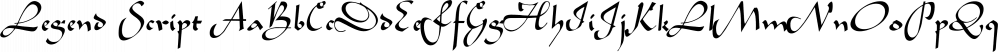 Legend Script font family by SoftMaker