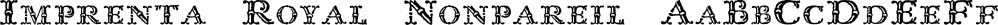 Imprenta Royal Nonpareil font family by Intellecta Design