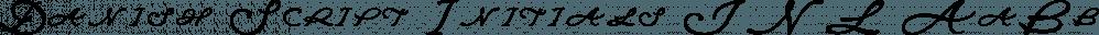 Danish Script Initials JNL font family by Jeff Levine Fonts