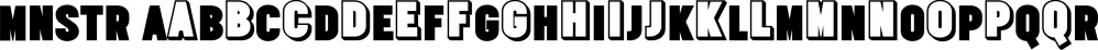 MNSTR font family by Gaslight