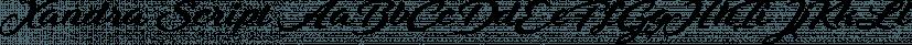 Xandra Script font family by Cerri Antonio