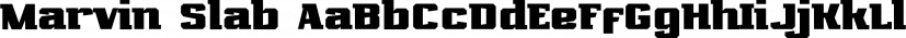 Marvin Slab font family by NREY