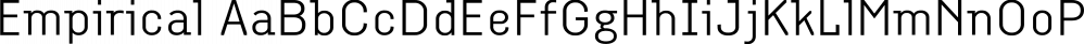 Empirical font family by Type Associates