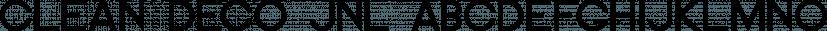 Clean Deco JNL font family by Jeff Levine Fonts