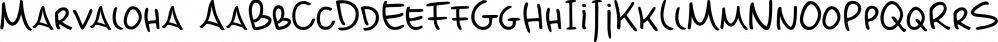 Marvaloha font family by Fontforecast