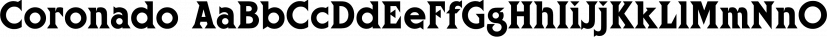 Coronado font family by FontSite Inc.
