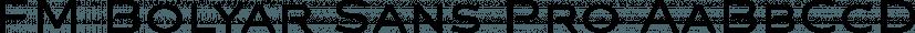 FM Bolyar Sans Pro font family by The Fontmaker