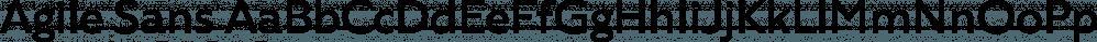 Agile Sans font family by Fenotype