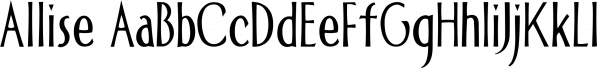 Allise font family by Fonthead Design Inc.
