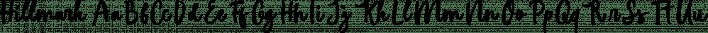 Hillmark font family by Firman Ananda