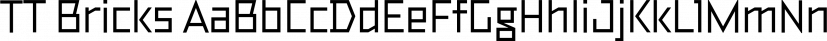 TT Bricks font family by Typetype