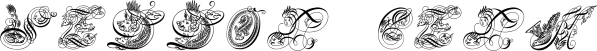 SeddonPenmansParadiseCapitals font family by Intellecta Design