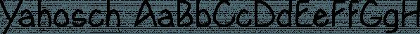 Yahosch font family by Ingrimayne Type