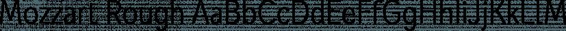 Mozzart Rough font family by Posterizer KG