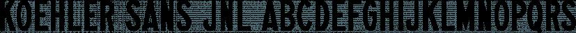 Koehler Sans JNL font family by Jeff Levine Fonts