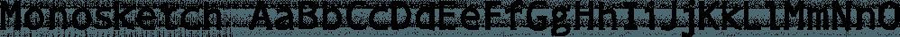 Monosketch font family by GRIN3 (Nowak)