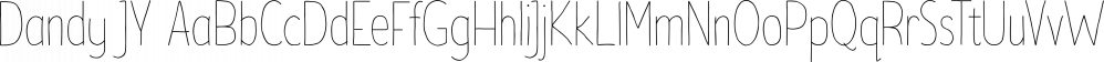Dandy JY font family by JY&A Fonts