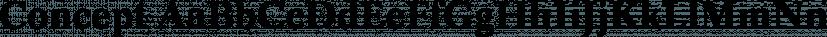 Concept font family by FontSite Inc.