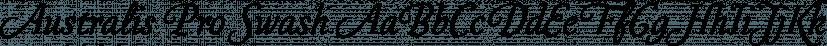 Australis Pro Swash font family by Latinotype