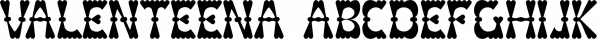 Valenteena font family by Ingrimayne Type