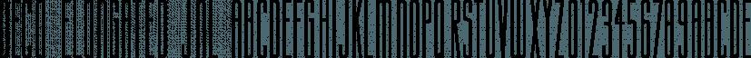 Deco Elongated JNL font family by Jeff Levine Fonts