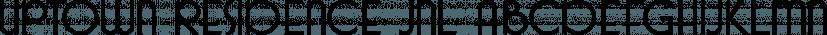 Uptown Residence JNL font family by Jeff Levine Fonts