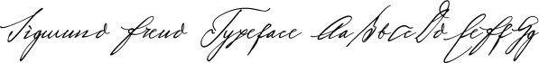 Sigmund Freud Typeface font family by Harald Geisler