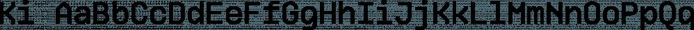Ki font family by Mint Type