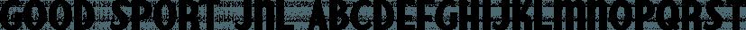 Good Sport JNL font family by Jeff Levine Fonts