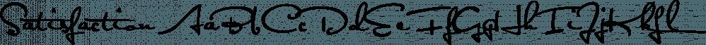 Satisfaction font family by E-phemera Fonts