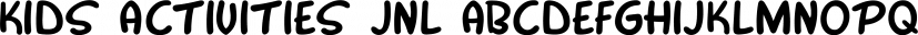 Kids Activities JNL font family by Jeff Levine Fonts