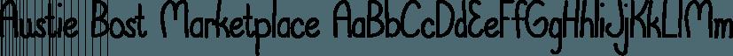 Austie Bost Marketplace font family by Austie Bost Fonts