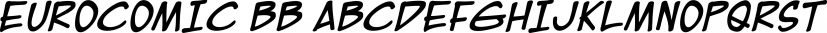 Eurocomic BB font family by Blambot