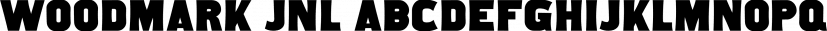 Woodmark JNL font family by Jeff Levine Fonts