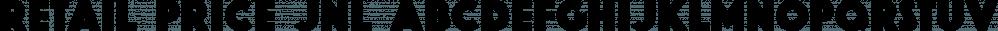 Retail Price JNL font family by Jeff Levine Fonts