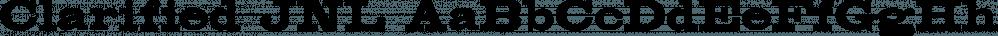 Clarified JNL font family by Jeff Levine Fonts