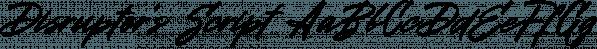 Disruptor's Script font family by Piñata