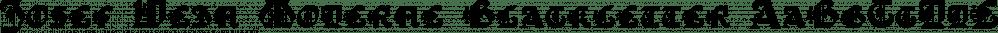 Josef Wein Moderne Blackletter font family by Intellecta Design
