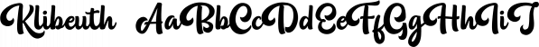 Klibeuth font family by olexstudio