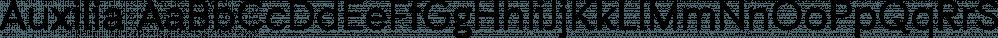 Auxilia font family by Typomancer