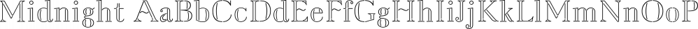 Midnight font family by Three Islands Press