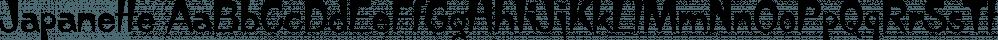 Japanette font family by FontSite Inc.