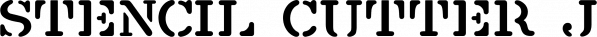 Stencil Cutter JNL font family by Jeff Levine Fonts