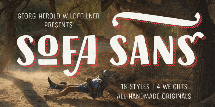 Sofa Sans Hand font family by FaceType